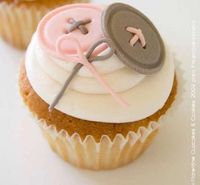 buttons cupcakes - cute as a button shower