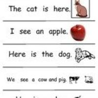 Sight Word Sentences for K and First Grade First 50 Sight Words
