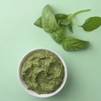 Check out this guide on How to Turn Any Herb into Pesto-- a guide on how to make healthy pesto and more healthy pesto recipes from