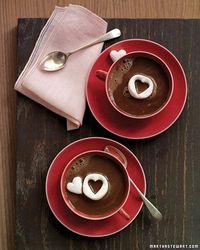 Hot Chocolate with Marshmallow Hearts