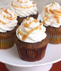 Pumpkin Spice Latte Cupcakes with Whipped Cream