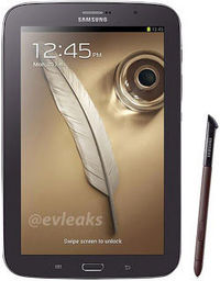 Galaxy Note 8.0 Brown Black Revealed Through Twitter