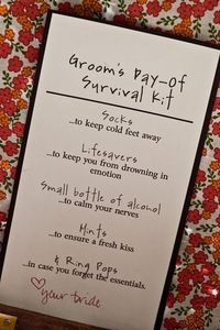 10 Ways to Surprise Your Groom: assemble a day-of survival kit