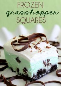 Frozen grasshopper squares #icecream