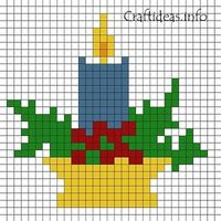 Fuse Beads Candle Pattern 400