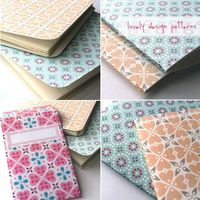 Lovely Pattern PDF Printables - 5 Designs - You can use the Printable paper designs to make such things as jotter covers, envelopes, etc... See the side bar of the Lovely Design Blog for downloads. http://www.lovelydesign.blogspot.com/