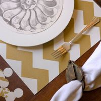 Chevron Paper Placemats #laylagrayce