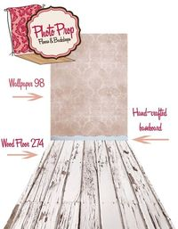 Win this backdrop, faux floor, and baseboard set up from