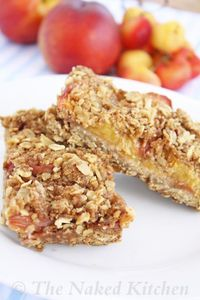 Oatmeal and Fruit Snack Bars (like a whole-foods version of Date Squares)