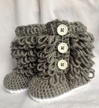 Baby Girl Ugg Boots Crochet on Etsy, $20.00