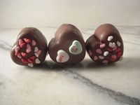 Chocolate Dipped Valentine Fudge Bites