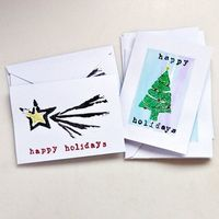 DIY Holiday Cards - Made with Potato Stamps!