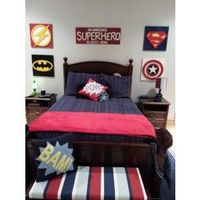 Bedazzled Custom Super Heroes Room