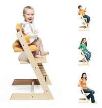 Must get a Stokke for the next baby-actually, Lila is so short and hates a booster seat - this would work for her now.