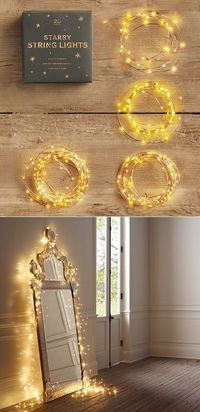Starry lights string. Would be beautiful to take pictures in Prom dress in front of the mirror. Senior Pictures?
