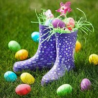 Flowery Rainboots Easter Basket