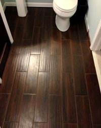 Ceramic tile that looks like wood�€� perfect for a kitchen or bathroom. The beauty of wood with the ease of ceramic - and no grout lines.