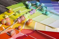 beads from paint swatches