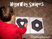 Fun way for car-lovers to practice shapes!