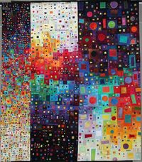 �€œDispersion�€ by Carol Taylor This is a quilt!!