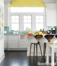 yellow and turquoise tile