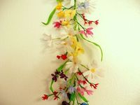 6 ft. Crepe Paper Flower Garland by Stellapetals.
