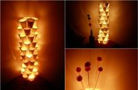 Make a lamp out of paper cups