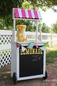 DIY lemonade stand. Also use for Circus, Circus spring production by changing the awning.