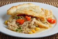 Turn up the heat in your kitchen with this #chicken pot pie remake. Use turkey or chicken to make this a great fall #recipe!