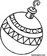 printable a bauble decorating a christmas tree coloring page printable coloring pages for kids