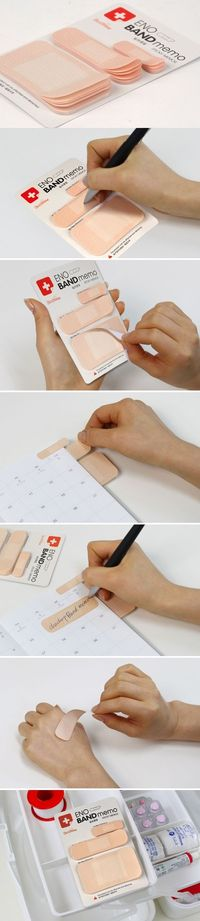 Creative Band Aid Type Notepad / Sticky Note Memo