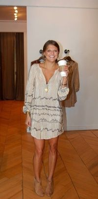 long sleeve dress and short boots.