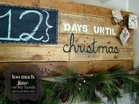 Adorable pallet countdown sign from