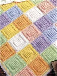Bubble Square Afghan