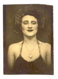 Photo Booth Photo of a Circus Performer, 1920's
