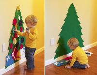 Love this idea!!! Felt Christmas tree that a toddler can decorate over and over and leave the real one alone! - Click image to find more DIY & Crafts Pinterest pins