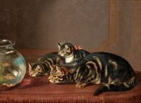 Cats by a fishbowl - Horatio Henry Couldery - The Athenaeum