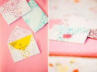 Make envelopes out of paper doilies