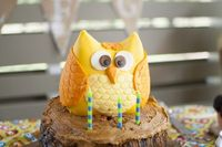 Owl Cake by The Cake Diva at a child's birthday party