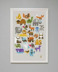 13 color Wee Alphas Limited Edition Screen Print!!