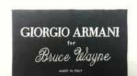 Giorgio Armani for Bruce Wayne Clothing Label. THE DARK KNIGHT RISES