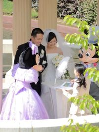 Mickey and Minnie as witnesses for wedding registration!