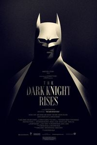 : the dark night rises poster by olly moss #batman.