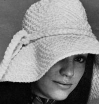 Women's 1970s Retro Crocheted Hat PDF CROCHET PATTERN by Zafirah, $2.25