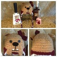 bully hats for little mississippi state fans! Mom please learn to make this!