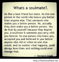 Soulmate definition with quote
