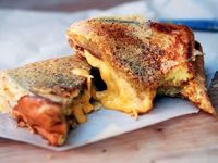Crispy grilled cheese.
