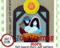The Christmas Story Bible Flannel/ Felt Board .PDF Pattern
