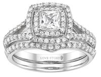 LOVE the band in this set! It's about $630 at Hurst Fine Diamonds! It also fits perfect against my engagement ring!