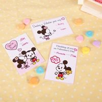 Free printable Mickey & Minnie Cutie Valentines